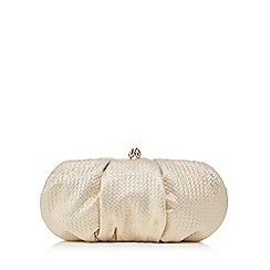 Debut - Gold jacquard clutch bag
