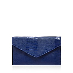 Debut - Blue snake effect envelope clutch