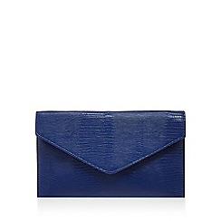 Debut - Blue snake effect envelope clutch