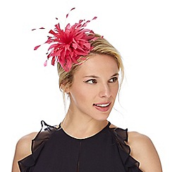 Debut - Pink feather headband fascinator