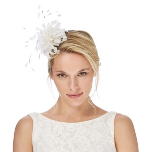 Debut Ivory feather headband fascinator