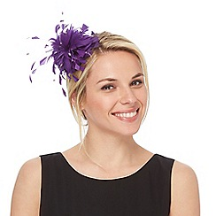 Debut - Bright purple feather fascinator
