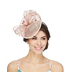 Debut - Light pink disc fascinator