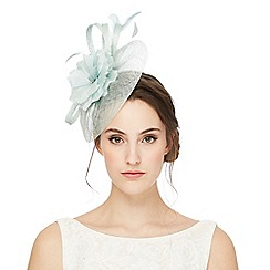 Debut - Pale green flower disk fascinator