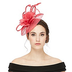 Debut - Bright pink flower disk fascinator