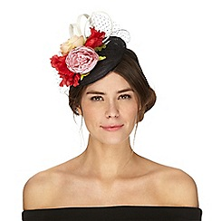 Debut - Multi-coloured floral button fascinator