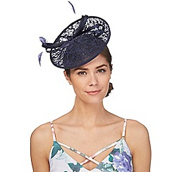 Debut - Navy floral lace fascinator