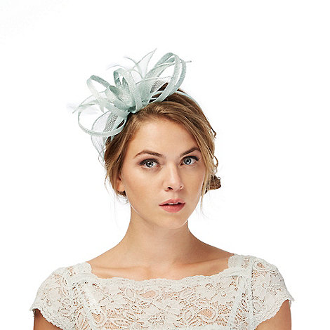Debut - Pale green feather fascinator