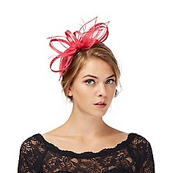 Debut - Pink feather fascinator