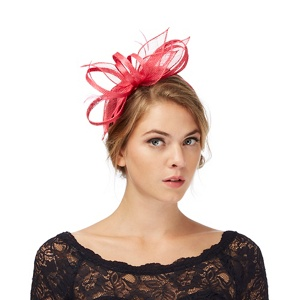 Debut Pink feather fascinator