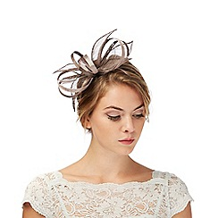 Debut - Grey feather fascinator
