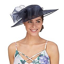 Debut - Navy bow saucer fascinator