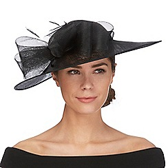 Debut - Black bow saucer fascinator
