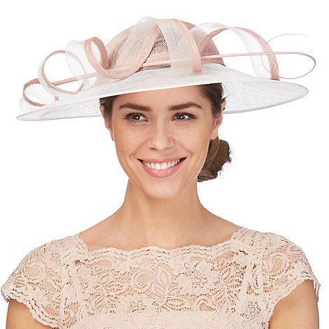 Debut - Pink two-tone twirl saucer hat