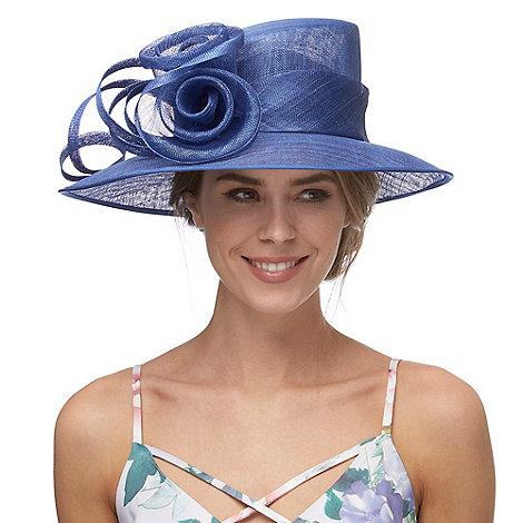 Debut - Royal blue rose swirl hat