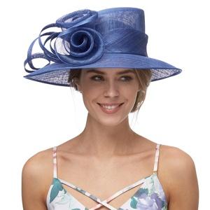 Debut Royal Blue Rose Swirl Hat
