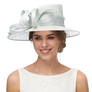 Debut Light blue loop and bow hat