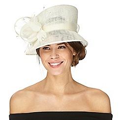 Debut - Ivory floral hat