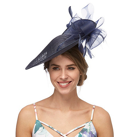 Debut - Navy flower saucer hat