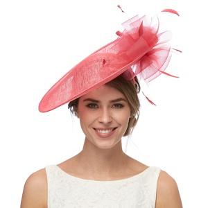 Debut Pink Flower Saucer Hat