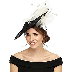 Debut - Black flower saucer hat