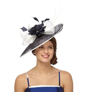 Debut Navy (Blue) Two Tone Quill Saucer Fascinator