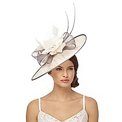 Debut - Dark tan two tone quill saucer fascinator