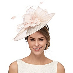 Debut - Pink diamante flower saucer fascinator