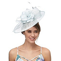 Debut - Blue diamante flower saucer fascinator