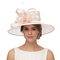 Debut - Pink contrast bead flower hat