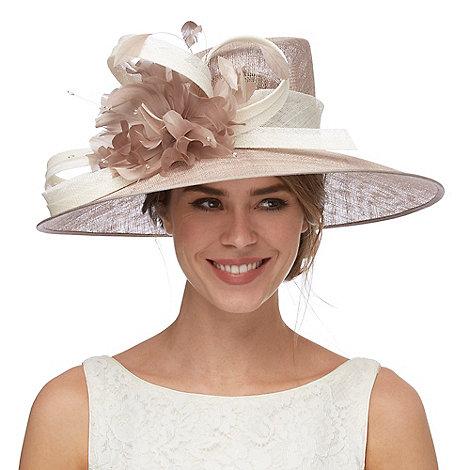 Debut - Natural contrast bead flower hat