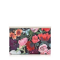 Debut - Multicoloured floral print frame clutch