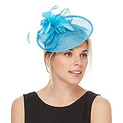 Debut - Dark turquoise feather fascinator