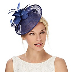 Debut - Dark blue feather fascinator