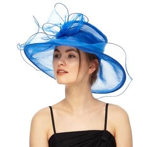 Debut Blue Oversized Organza Hat