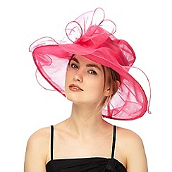 Debut - Pink oversized organza bow hat