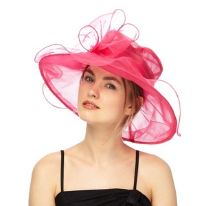 Debut Pink oversized organza bow hat