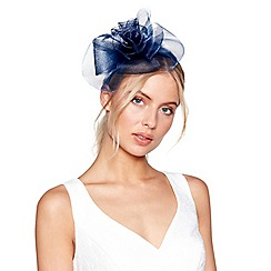 Debut - Navy mesh twist fascinator headband