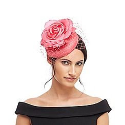 Debut - Coral flower net fascinator