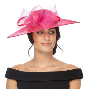 Debut Bright pink bow saucer fascinator