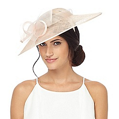 Debut - Light pink bow saucer fascinator