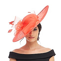 Debut - Red bow saucer fascinator