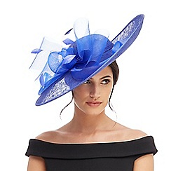 Debut - Blue bow saucer fascinator