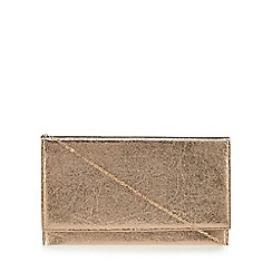 Debut - Pink metallic flapover clutch bag