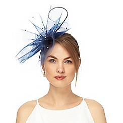 Debut - Navy diamante embellished cloud fascinator