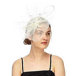 Debut - White diamante embellished cloud fascinator