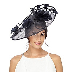 Hatbox - Navy floral feather fascinator