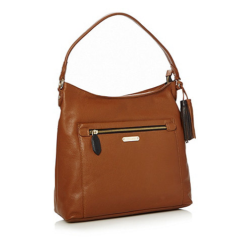 J by Jasper Conran - Designer tan tasselled shoulder bag
