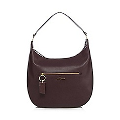 J by Jasper Conran - Brown zip detail saddle bag