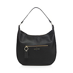 J by Jasper Conran - Black zip detail saddle bag